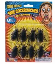 8 pc Fake Cockroaches Roach Bugs Scaring Prank Gross Halloween Trick Joke Prop  image 1