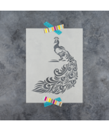 Peacock Stencil - Reusable Stencil of Peacock Feathers in Small & Large ... - $5.99+