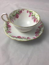 Vintage Aynsley Rose Tea Cup and Saucer Fine Bone China England - $59.95