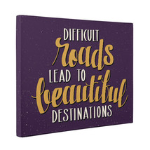 Difficult Roads To Beautiful Destinations Motivational Quote CANVAS Wall... - $28.22