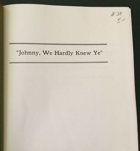 Johnny We Hardly Knew Ye Memories Of John Fitzgerald Kennedy O'Donnell Powers image 6