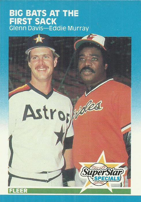 1987 Fleer #636 Glenn Davis/Eddie Murray