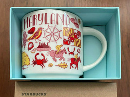 Starbucks Coffee Been There Series Mug MARYLAND Cup 14 oz RED/WHITE Gift... - $25.29