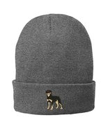 Trendy Apparel Shop Rottweiler Embroidered Winter Knitted Long Beanie - ... - $14.99
