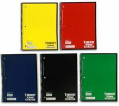 Norcom Wide Ruled Spiral Bound Notebook 70 Sheets Assorted Colors (Pack ... - $12.99