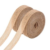Pangda 2 Rolls Natural Burlap Fabric Ribbon Roll for Wedding Events Part... - $11.79