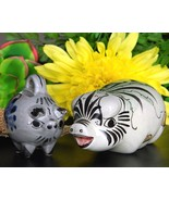 Pig Pair Mexico Pottery Figurines Mexican Noe S... - $19.95