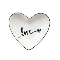 CHOOLD Original Ceramic Heart Shape Ring Dish Holder Jewelry Dish Trinke... - $14.57