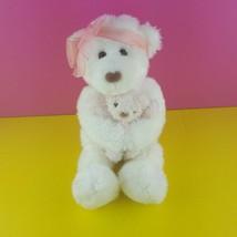"Gund Plush Teddy Bear Mommas Love Hugging Mama Baby 12"" Stuffed Animal 4977 - $19.80"