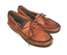 Dexter Womens Size 7.5 Loafers Brown Leather Shoe Tassel Boat Shoe - $21.77