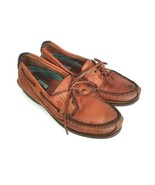 Dexter Womens Size 7.5 Loafers Brown Leather Shoe Tassel Boat Shoe - $21.77