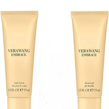 VERA WANG Embrace MARIGOLD & GARDENIA Perfume Body Lotion & Shower Gel W... - $21.50
