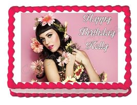 Katy Perry Edible Cake Image Cake Topper - $8.98+