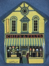 Chips & Felts Charles Wysocki Folktown Collector Plate Bradford Exchange - $27.97