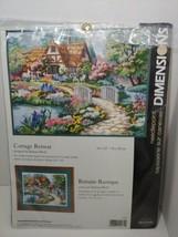 Dimensions Needlepoint Kit Cottage Retreat 3204 bridge flowers Barbara Mock - $16.82