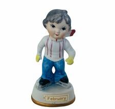 Birthday Gift porcelain figurine vtg sculpture Japan 1960s February Vale... - $19.30
