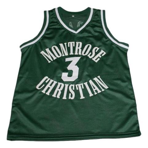 Kevin durant  3 montrose christian new men basketball jersey green   1