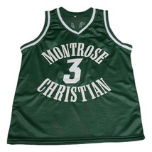Kevin Durant #3 Montrose Christian Basketball Jersey New Sewn Green Any Size image 1
