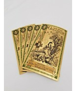 Lot Of 5 - 1 Utah Goldback Gold Foil Note 1/1000 oz 24KT 999 Gold - $23.22