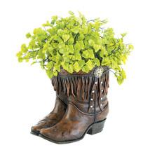 Patio Planters, Decorative Outdoor Planters, Polyresin Cowboy Boot Planter - $39.08