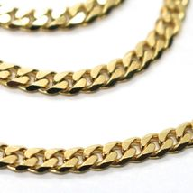 MASSIVE 18K GOLD GOURMETTE CUBAN CURB CHAIN 3.5 MM 18 IN. NECKLACE MADE IN ITALY image 3