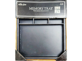 The Paper Studio Wooden Memory Tray, Black, Perfect for Photos & Mixed Media