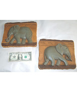 (2) Set Casa Arredamento Regali da Parete Grigio Elefante Arte 22.9cm X 20.3cm - $23.73