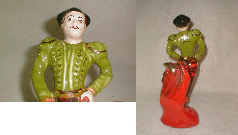 "Kitsch 1960's matador ceramic sculpture bull fighter beautiful 16 1/2"" rare"