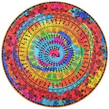 Bgraamiens Puzzle- Ancient Tribal Life -1000 Pieces Rich Color Round Mandala Cha