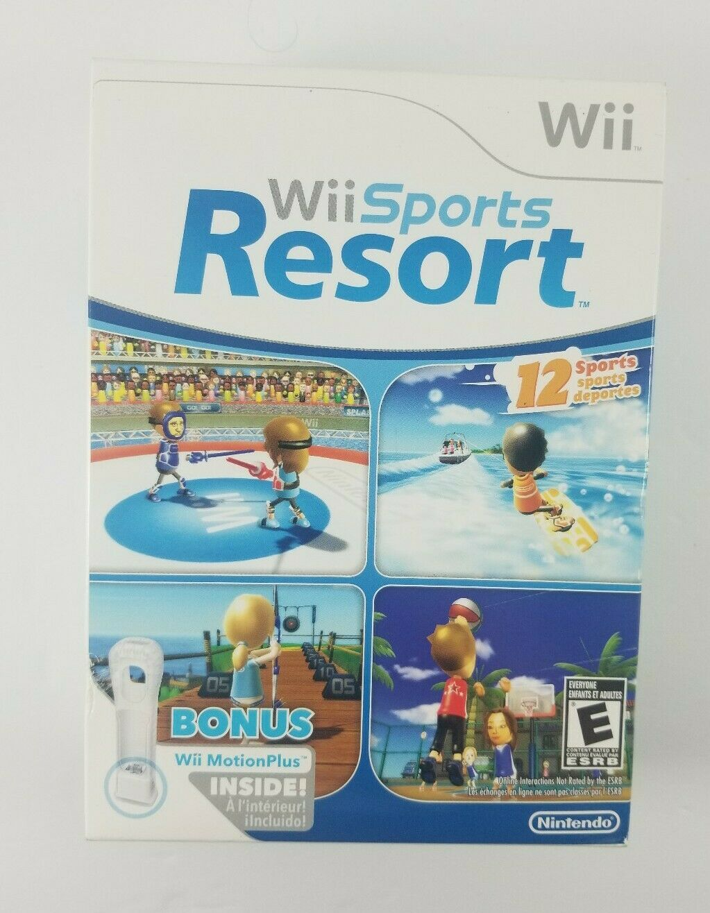 Primary image for Brand New Sealed Wii Sports Resort with Motion Plus Inside (Wii, 2009) 12 Sports