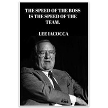Lee Iacocca Motivational Quote Wall Art Poster - $22.28