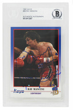 Ray Mancini Signed 1991 Kayo Boxing Card #86 w/Boom Boom - Beckett Encap... - $88.11