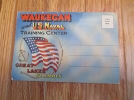 Waukegan US Navy TrainingCenter Great Lakes Illinois IL Souvenir Folder ... - $6.99