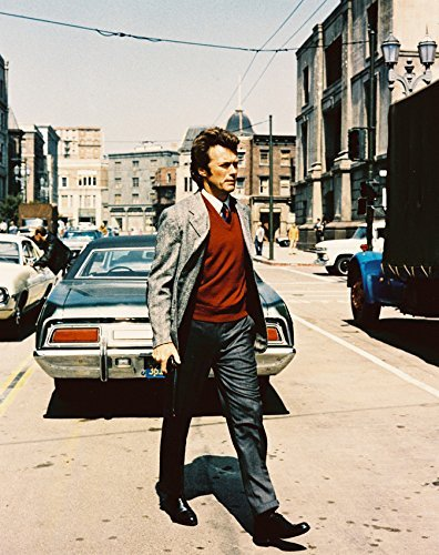 Dirty Harry Clint Eastwood Crossing Street 16x20 Canvas Giclee Color