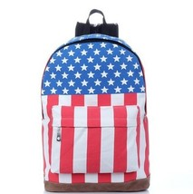 American flag casual college student waterproof canvas laptop rucksack - $20.00
