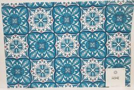 """Set of 2 PVC Polyvinyl Placemats (13""""x19"""") BLUE & WHITE FLORAL PATCHWORK... - $12.86"""