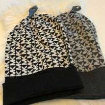 Women's Black Michael Kors Beanie  Hat sz Black,Grey - $25.09