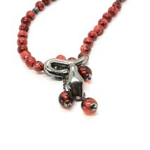 Silver Necklace 925 with Snake Burnished and Jasper, Made in Italy by Maschia image 5