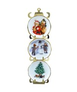 Christmas Plate Rack 1.388/6 Reutter 3 Winter Scenes DOLLHOUSE Miniature - $28.15