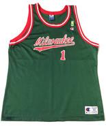 Vintage Throwback Oscar Robertson Milwaukee Bucks Jersey Champion NBA Go... - $79.15