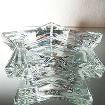 2 (Two) HOME INTERIORS Lead Crystal Pentacle Star Candle Base image 4