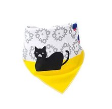 3 Pcs Pure Cotton Adjustable Baby Neckerchief/Saliva Towel(Cat)