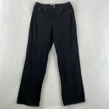Talbots Jeans Womens Size 12 Black Straight Leg Stretch High Rise Pants - $18.95
