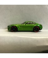Green Mercedes AMG GT Hot Wheels loose diecast car OG - $5.45