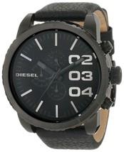 Diesel DZ4216 Black Leather Chronograph Wrist Watch for Men - $144.52 CAD