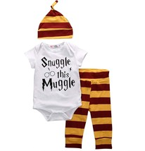Baby Boys Girls Snuggle This Muggle Short Sleeve Bodysuit Striped Pants ... - $14.54