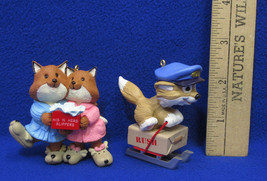 1993 Hallmark Keepsake Quick As A Fox And Mom & Dad Fox Ornaments Lot of 2 - $12.86
