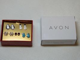 Girls Womens Avon Whimsy Winter Snowmen 5 Pairs pack of Earrings F3975961 NIP - $18.69
