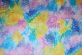 ARTISTS TOUCH FROM RJR-BRIGHT PASTEL SPLASHES - 100% COTTON FABRIC - $7.91