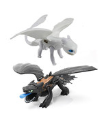 25cm Black/white Toothless Dragon Night Fury Light Fury Action Figure To... - $17.68